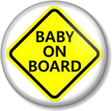 BABY ON BOARD SIGN Pinback Button Badge - Pregnant Mother Mum to Be Shower Gift - Expecting